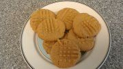 Easy Peanut Butter Cookies. I'm diabetic so Instead of using regular sugar, I used 1/2 cup of Splenda. It turned out very good, not to sweet. One of my favorite recipes.