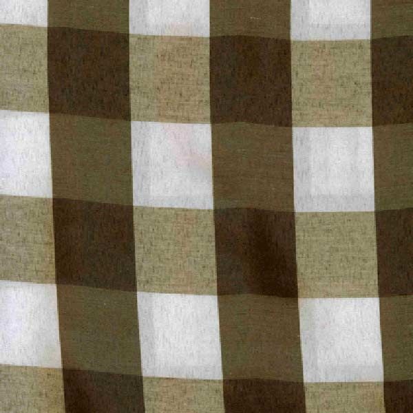 Brown Check Runner. www.tableclothhiring.co.za