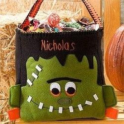 Frankenstein Personalized Halloween Trick or Treat Bag
