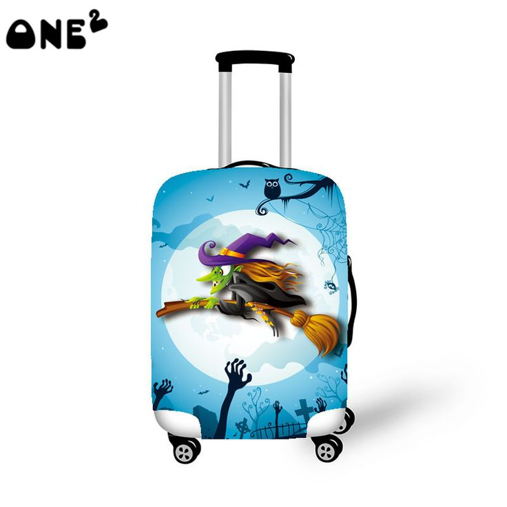 ONE2 practical travel luggages cover nylon material luggage cover colorful pattern popular kids custom luggage cover