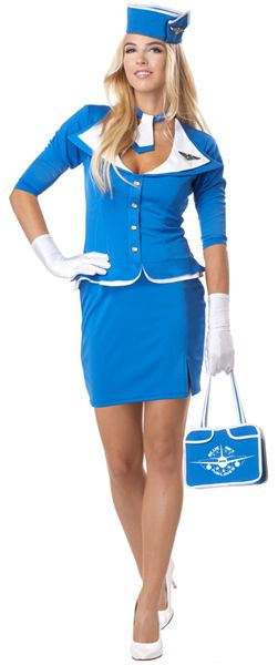 Classic 60s retro, think Mad Men without all the smoking...Retro Stewardess adult costume