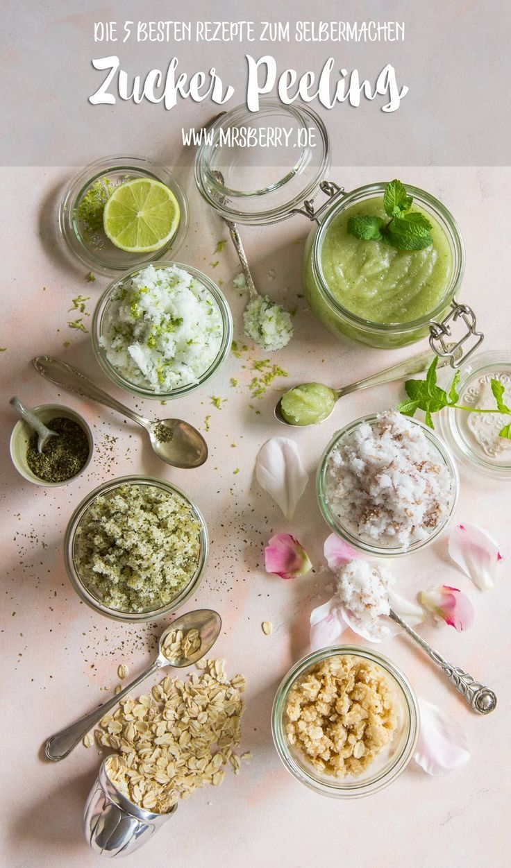 Peeling selber machen – die 5 besten Zucker-Peelings für's Home SPA