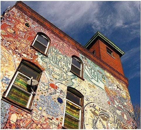 Philadelphia: Historical Charms, Shower Gifts, Philadelphia Mosaics, Street Art, Magic Gardens, The Cities, Old Building, Mosaics Mad, Gardens Mosaics