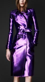 Burberry Prorsum - Burberry Prorsum Metallic violet purple trench coat | Hardly Ever Worn It