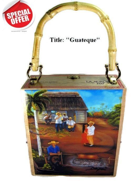 "On Sale!. Cigar Box Purse w/ Cuban artworks on top ""Guateque "". Best Art  | eBay"