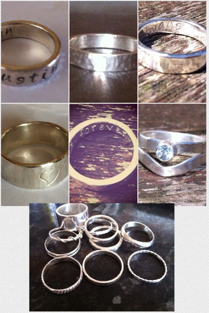Sterling Silver Personalised Silver Rings (Various designs available) - The Supermums Craft Fair