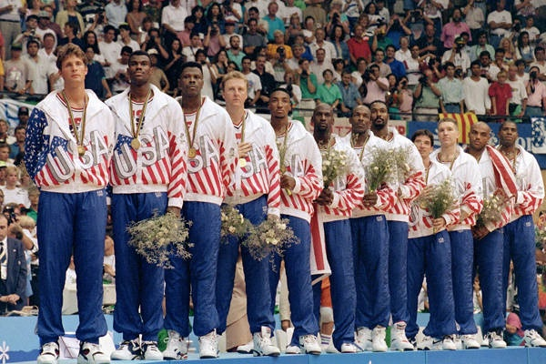 The Dream Team beat Croatia, 117-85, in the gold-medal game & re-established American basketball dominance.
