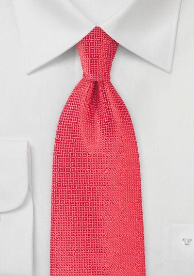 coral textured tie