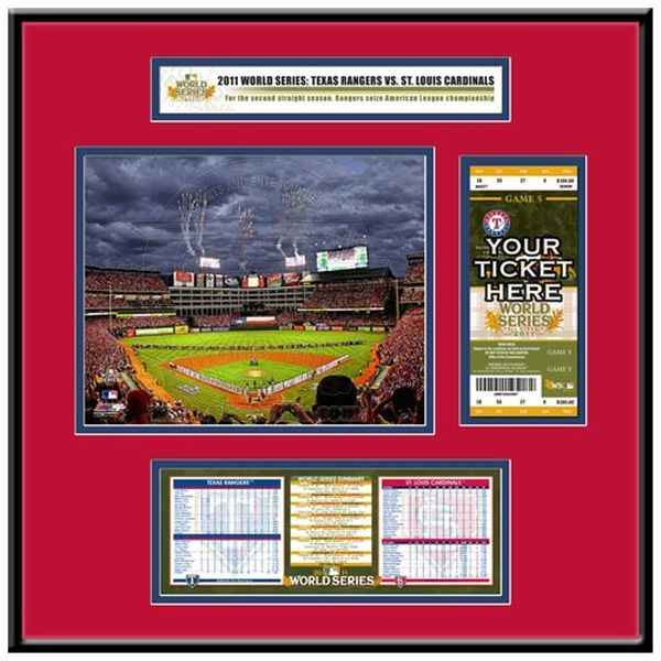Texas Rangers 2011 World Series Ticket Frame Jr. - $119.99