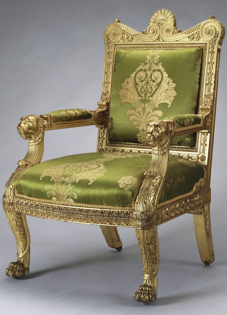 made for george iv by morel and seddon made in set of thirteen mahogany armchairs carved and gilded with straight back and slightly bowed front