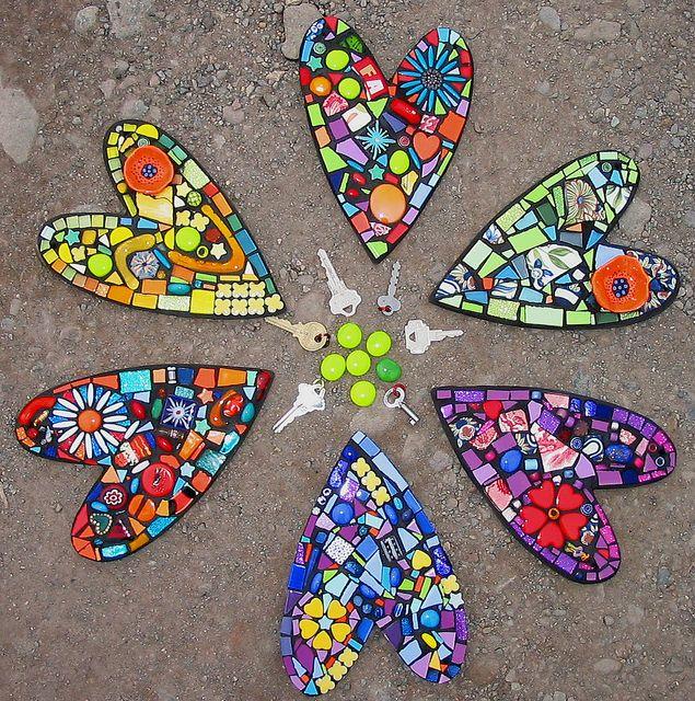 Corazones de mosaico - mosaics hearts