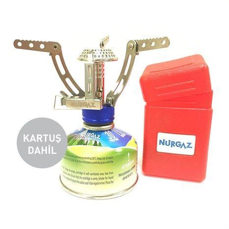 Nurgaz NG-078 Mikro Ocak Ilgaz + Nurgaz NG-203-V Vidalı Yedek Gaz Kartuşu 80 gr. (Kartuş Dahil) en iyi fiyat ve kredi kartına taksit seçenekleri ile tokgozler.com 'da!