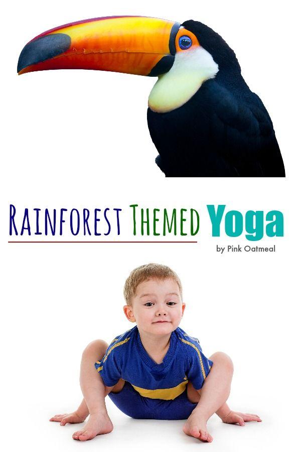 Rainforest Themed Yoga - Pink Oatmeal
