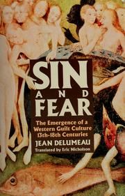Cover of: Sin and Fear by Jean Delumeau