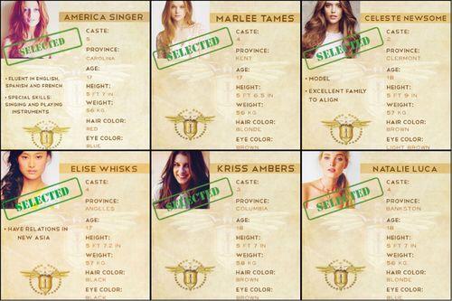 Seleccionadas elite / America singer / Kiera cass / The selecction