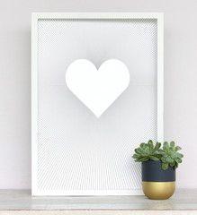 Lines Heart Print www.cloudninecreative.co.nz