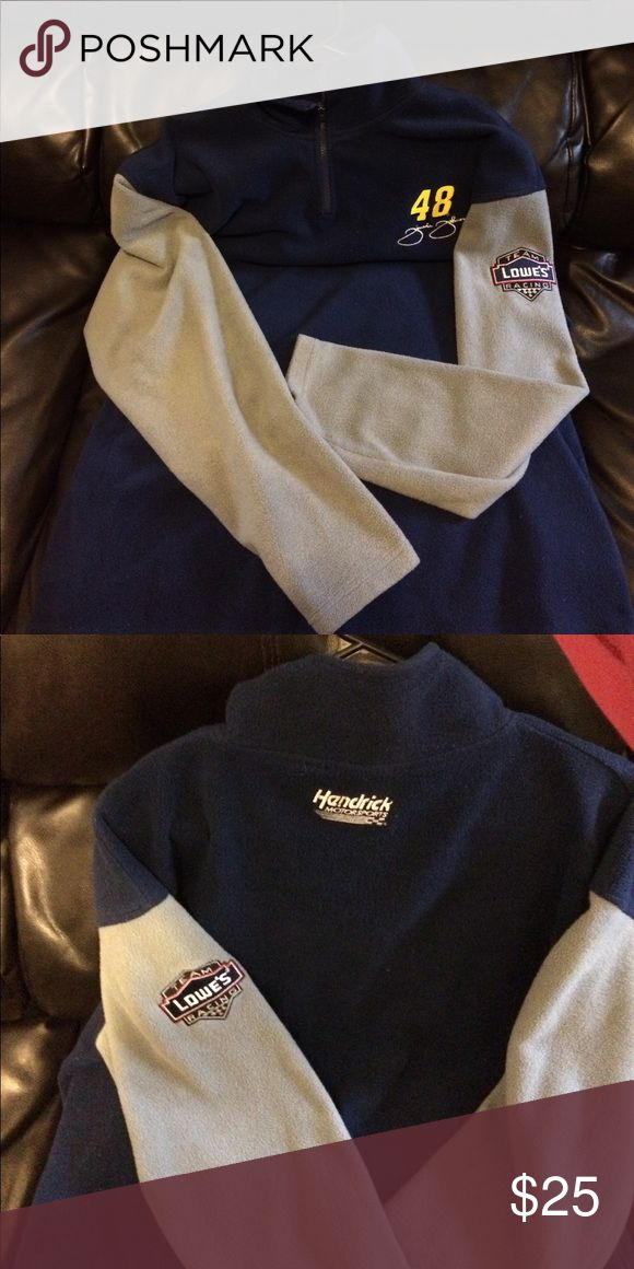 Jimmy Johnson zip up #48 Jimmy Johnson Blue/Gray zip up pullover. Good Condition,got it at Bristol Motor Speedway when I worked at Lowes. Sweaters Zip Up
