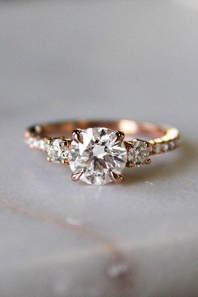 27 Rose Gold Engagement Rings By Famous Jewelers ❤️ rose gold engagement rings solitaire diamond round cut pave band ❤️ More on the blog: http://ohsoperfectproposal.com/rose-gold-engagement-rings/