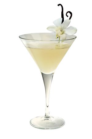 This Derby cocktail is just one of many recipes that share the name. Garnish with a vanilla bean.