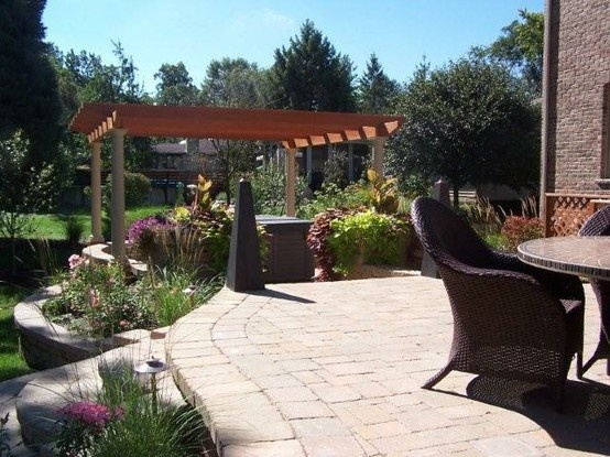 Pergola, Terrace. Roselle, IL. Raised PatioLand ...