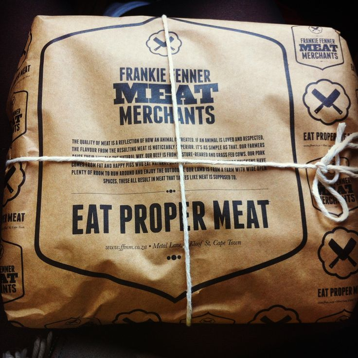 Eat proper meet. Packaging to make you happy that you've just paid for a hunk of cow.