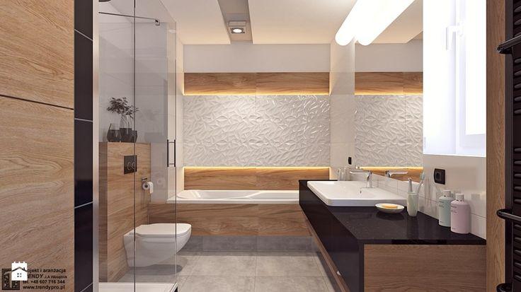 Łazienka 2 - Średnia łazienka w bloku bez okna, styl nowoczesny - zdjęcie od APP TRENDY Autorska Pracownia Projektowa