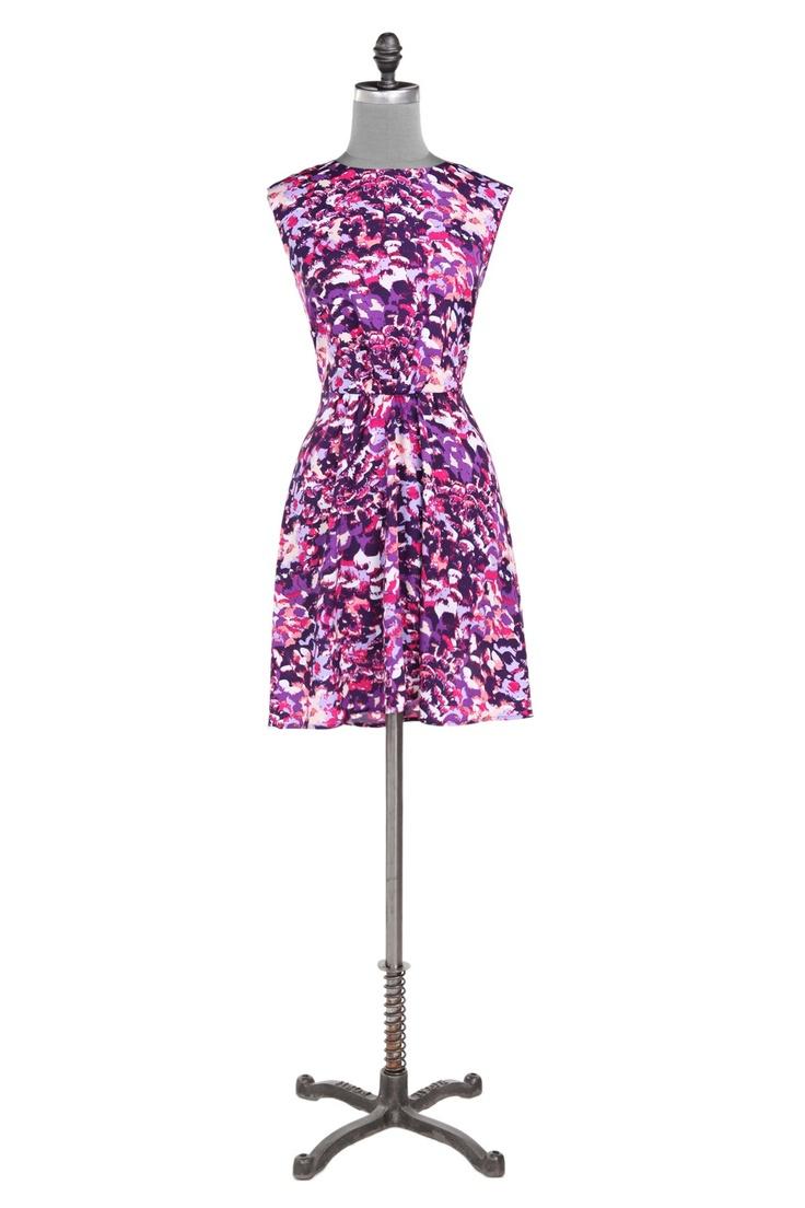 Watercolor-print dress - Purple - DressesFashion Moi, Vows Ideas, Dresses Sales, Watercolor Print, Purple Dresses, Misty Renewals, Watercolorprint Dresses, Wedding Fun, Watercolors Prints Dresses