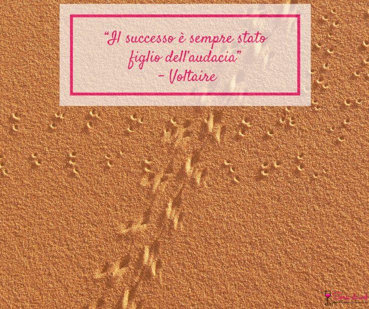 """#SorsidiSaggezza """"Il successo è sempre stato figlio dell'audacia""""- Voltaire"""
