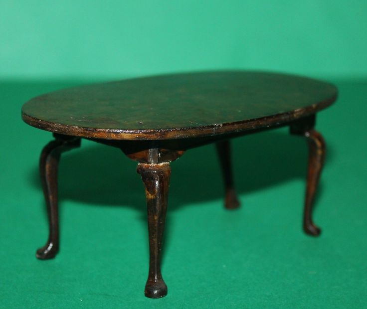Vintage Dolls House Triang Queen Anne Period Furniture Dining Table | eBay