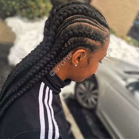 STYLIST FEATURE| These #cornrows styled by #dmvstylist @iamorhair__ are so neat❤️ Love it #voiceofhair ✂️========================== Go to VoiceOfHair.com ========================= Find hairstyles and hair tips! =========================