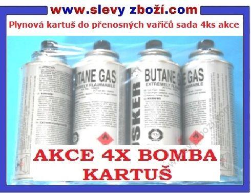 Plynová kartuš do přenosných vařičů sada 4ks akce bomba na vařič     http://www.slevyzbozi.com/