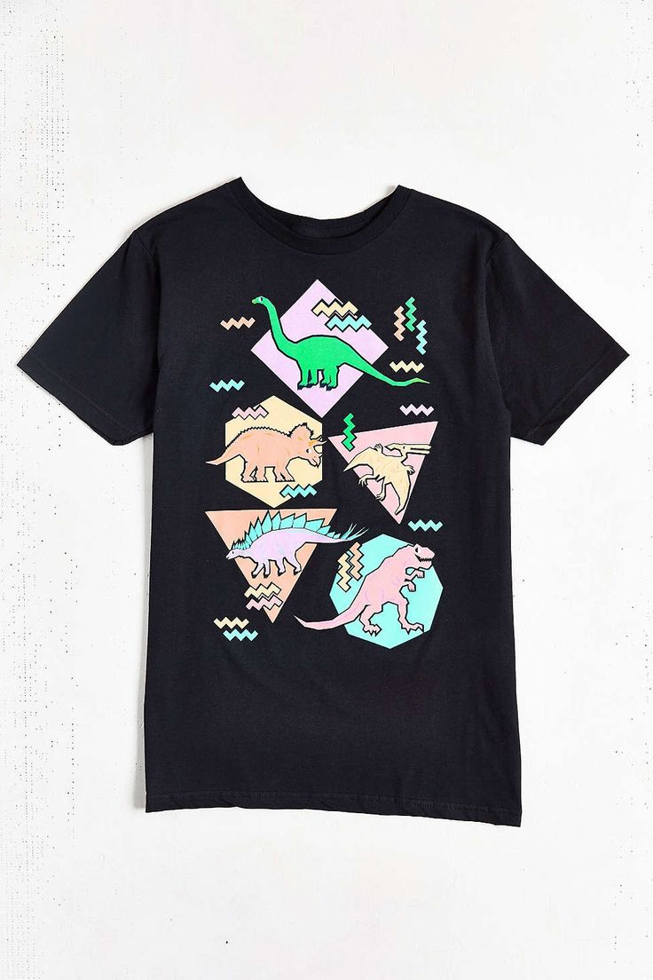 Design By Humans '90s Dino Pattern Tee