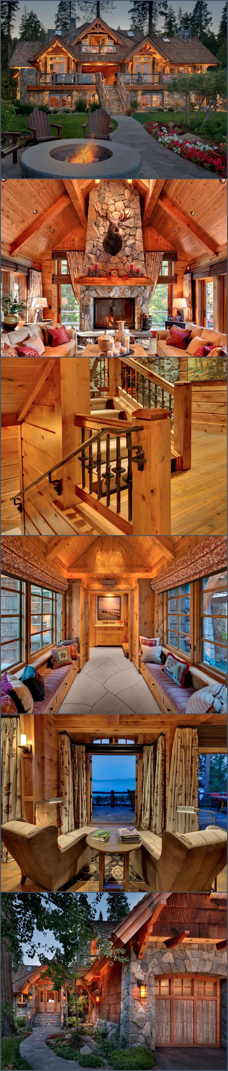 Love Log Cabins Old Tahoe House by OOA Design - Style Estate - YES. YES TO ALL OF THIS. ALL THE THINGS