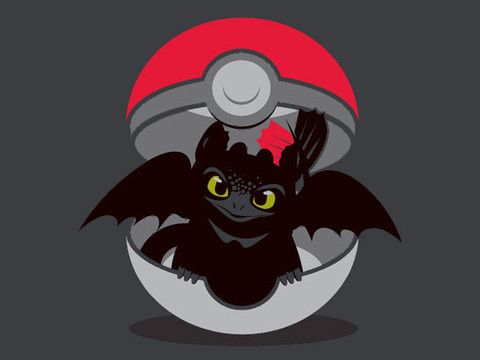 How to catch your dragon.  A fun play on Pokemon ...  How to train your dragon, toothless, night fury, dragon, pokeball