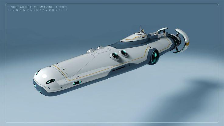 ArtStation - -Draconis- Subnautica Concept Sketch, Pat Presley
