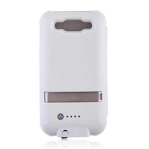 2600mAh External Battery Power Case with Cover for Samsung Galaxy SIII i9300 - White US$23.99