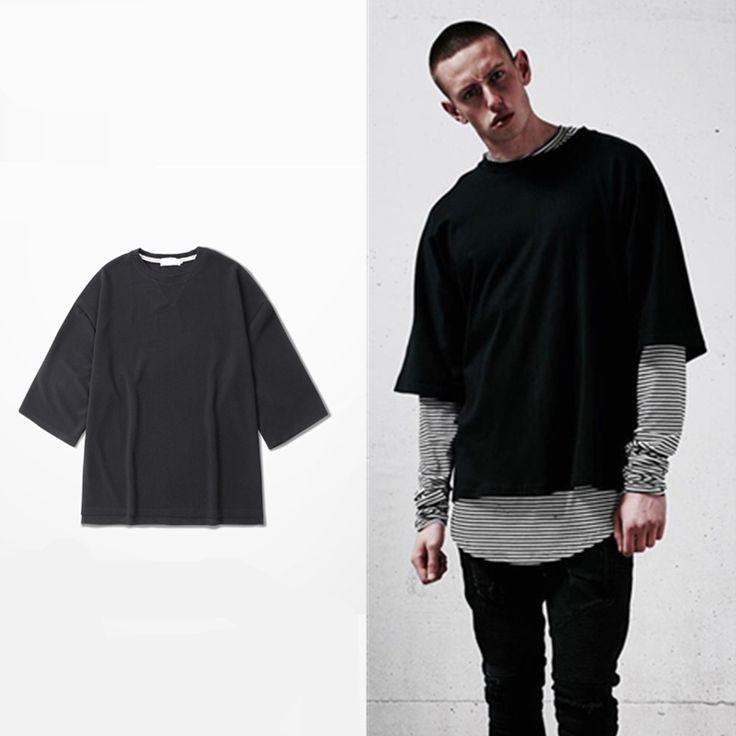 Großhandel preis übergroße t-shirt homme Kanye WEST kleidung Yeezy Saison stil t-shirt hip hop t-shirt streetwear herren t shirts