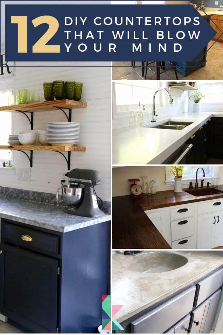 16 Inexpensive Bathroom Countertop Ideas In 2020 Diy Countertops