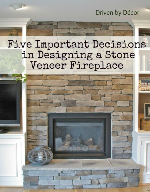 Five Important Decisions in Designing a Stone Veneer Fireplace