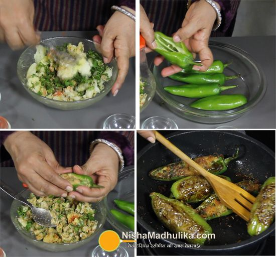 Aloo Stuffed Mirchi Recipe