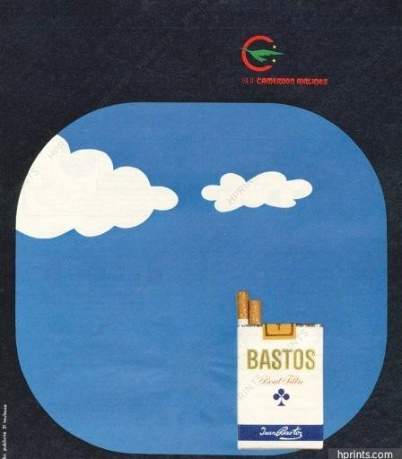Cameroon Airlines pub Bastos 1973