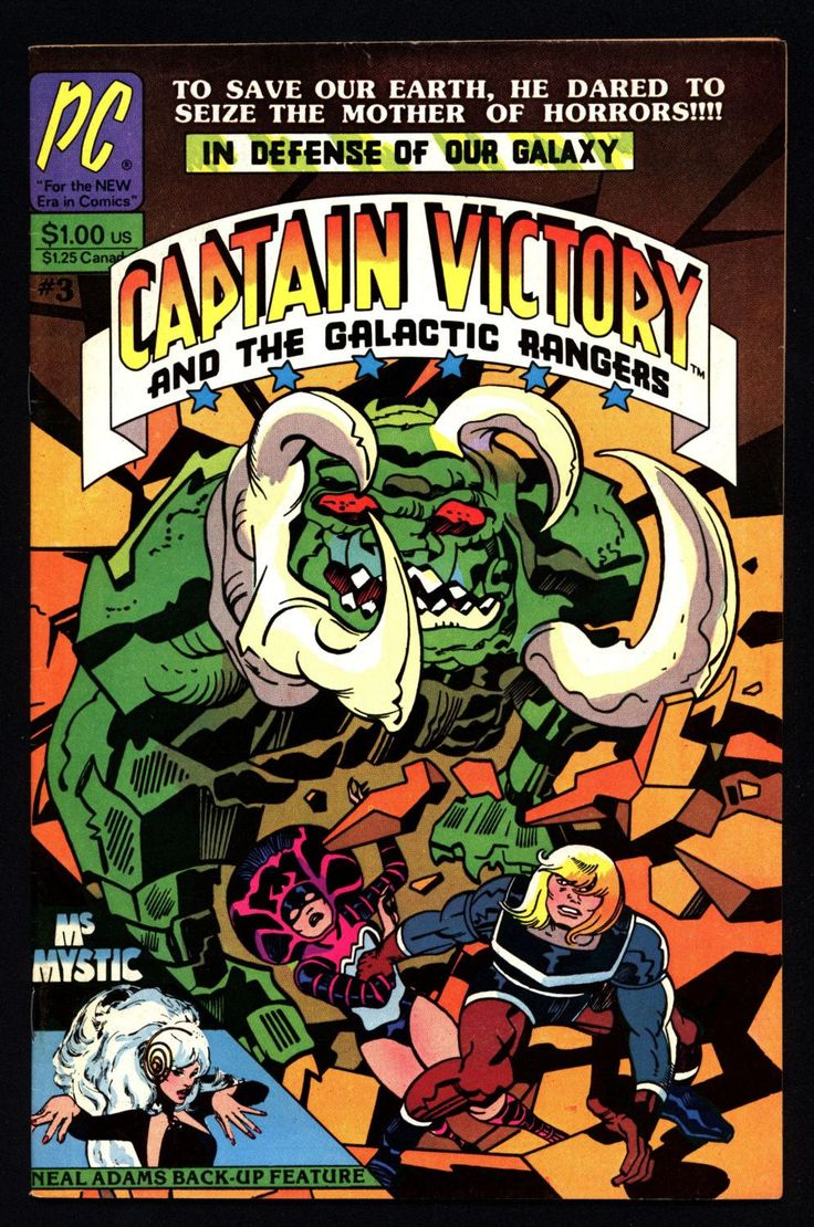CAPTAIN VICTORY & Galactic Rangers #3 Jack Kirby Ms. Mystic Neal Adams Science Fiction Cosmic Space Opera Pacific Alternative Comics