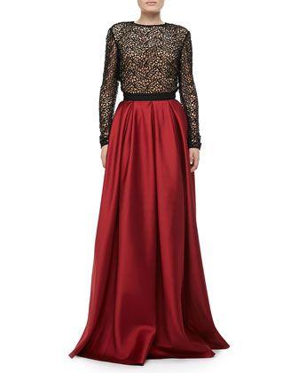 Satin Pocket Ball Skirt by Carmen Marc Valvo at Neiman Marcus. $495 for skirt
