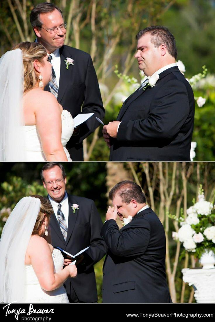 Bride and groom crying during their wedding vows!   Nocatee Wedding Photos - Jacksonville Wedding Photographer - Tonya Beaver Photography019
