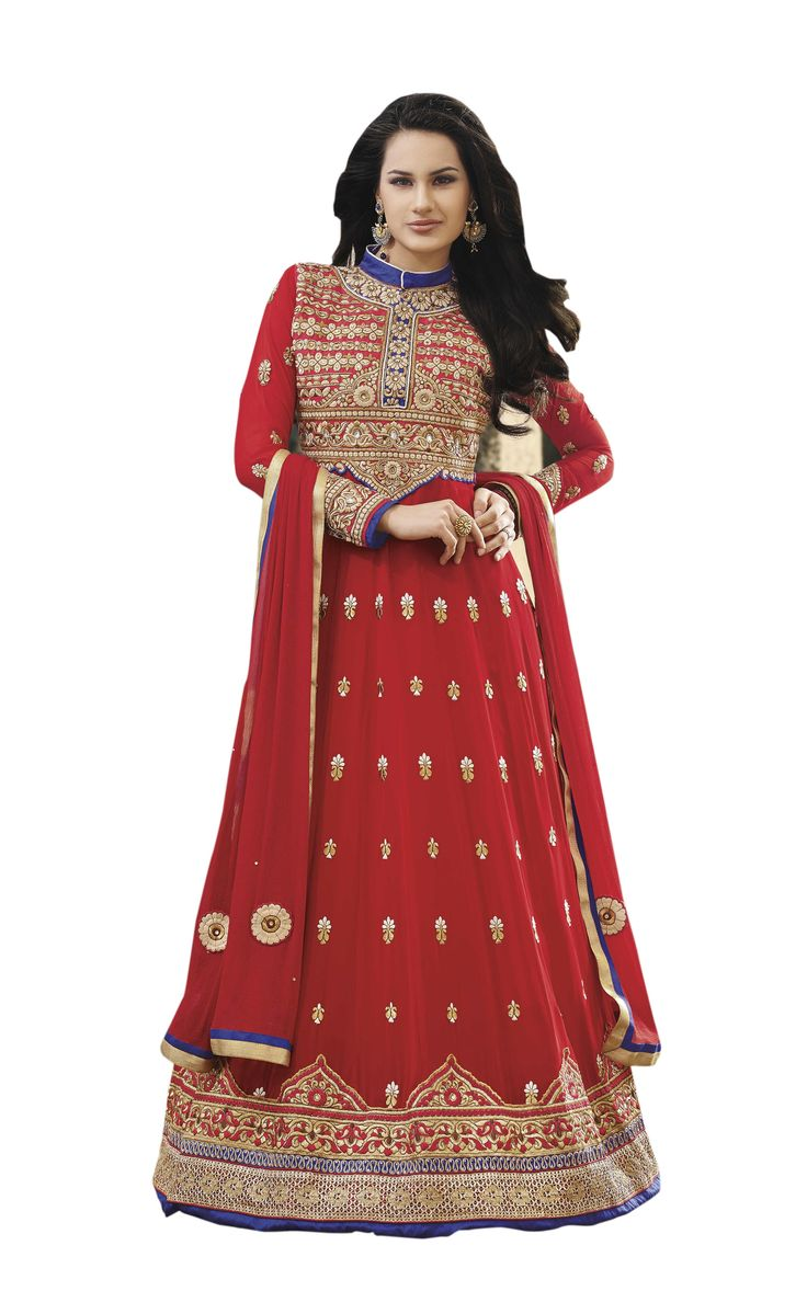 Red Embroidered Pure Georgette Semi Stitched Floor Length Anarkalis Salwar Suit  #DesignerSlawarkameez, #MagentaSalwarKameez #WeddingSalwarKameez, #NetFabricSalwarkameez, #EmbroideredWorkSalwarKameez #EmbroidedSalwarKameez #WeddingDress #PartyWearDress #AnarkaliSalwarkameez #AnarkaliDress #AnarKaliSuit #DesignerAnarkali #BridalSalwarKameez #SalwarKameezWithDupatta #RedSalwarKameez #RedSalwarSuits #redAnarkaliSuits #DesignerDress