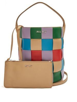 Patchwork leather tote   Miu Miu   MATCHESFASHION.COM UK