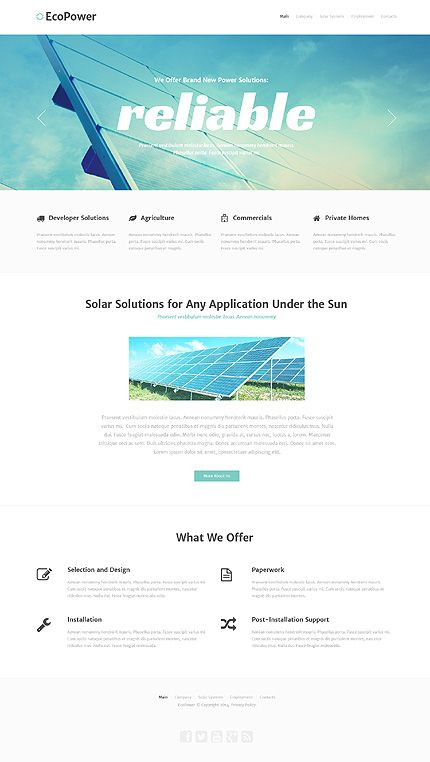 Alternative Power website inspirations at your coffee break? Browse for more Bootstrap #templates! // Regular price: $75 // Sources available: .HTML,  .PSD #Alternative Power #Bootstrap
