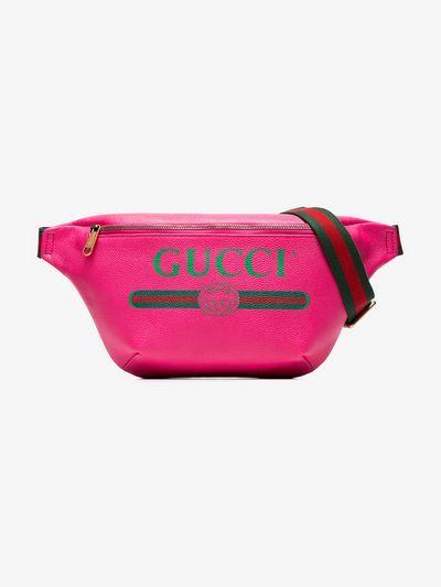 7c740f130ea Gucci pink fake logo print leather cross-body bag