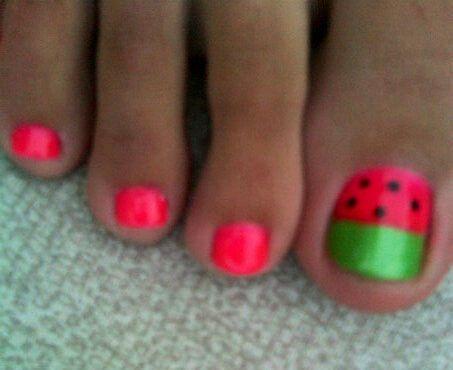 Watermelon | nail art | summer  Marketing for Nail Technicians  http://www.nailtechsuccess.com/nail-technicians-secrets/?hop=megairmone