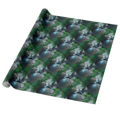 Wild Forest River Wrapping Paper - wrapping paper custom diy cyo personalize unique present gift idea